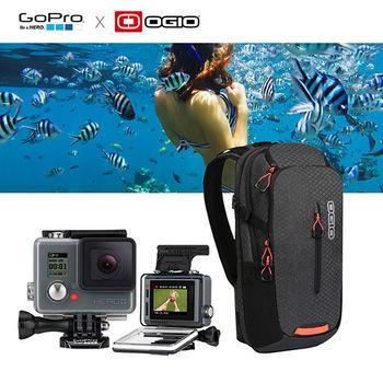 【GoPro】HERO 入門版+LCD運動攝影機+OGIO 單肩後背包組