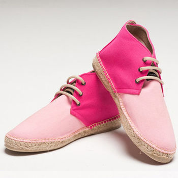 【BSIDED女鞋】Bsided ARCHIBALD MID DUO PINK中筒麻帆鞋(桃粉)