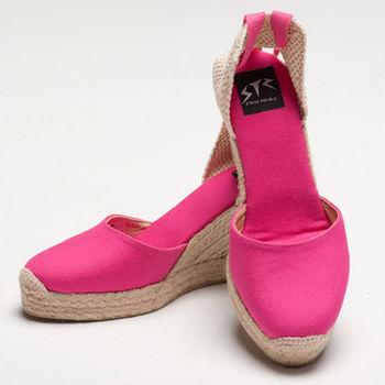 【BSIDED】Bsided ARCHIBALD HEEL FUSHIA楔型鞋(桃)
