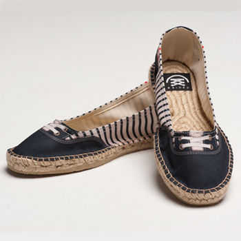 【BSIDED女鞋】Groover Mariniere Ballet仿真時尚設計印刷休閒鞋(藍)