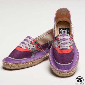 【BSIDED女鞋】Bsided BSD Violet 仿真時尚設計印刷休閒鞋(紫)