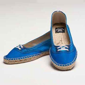 【BSIDED女鞋】Groover Chic Blue Ballet仿真時尚印刷休閒鞋(藍)