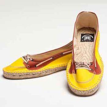 【BSIDED女鞋】Bsided Kayak Yellow Ballet 仿真時尚設計印刷休閒鞋(黃)