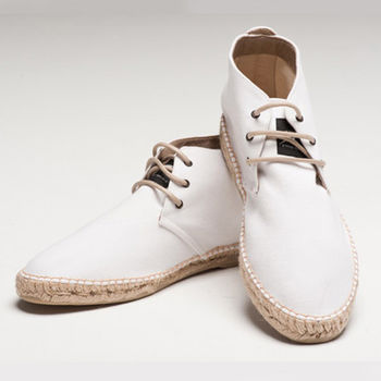 【BSIDED男鞋】Bsided ARCHIBALD MID WHITE中筒麻帆鞋(白)