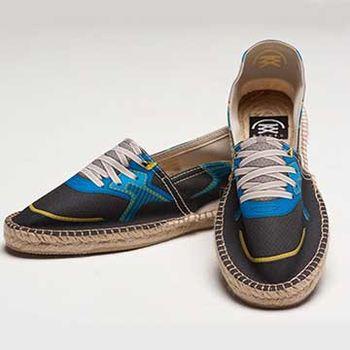 【BSIDED男鞋】Bsided BSD Blue 仿真時尚設計印刷休閒鞋(黑藍)