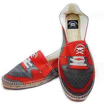 【BSIDED男鞋】BSIDED Fixie Red 仿真時尚設計印刷休閒鞋(紅灰)