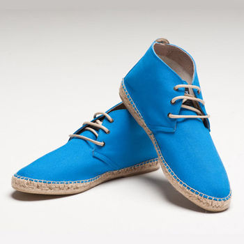 【BSIDED男鞋】Bsided ARCHIBALD MID ELECTEIC BLUE中筒麻帆鞋(藍)