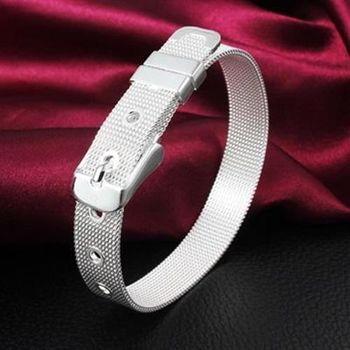 【米蘭精品】925純銀手鍊手環韓版氣質低調錶帶