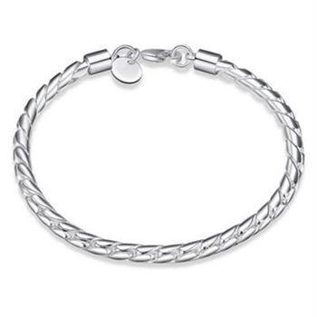 【米蘭精品】925純銀手鍊手環韓版時尚潮流個性