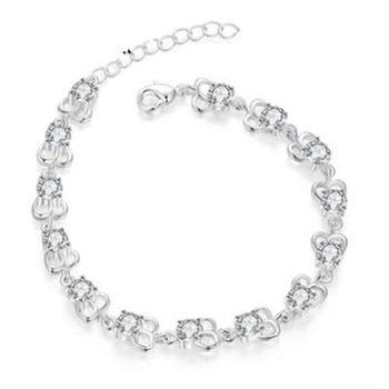 【米蘭精品】925純銀手鍊手環高貴流行鑲鑽百搭