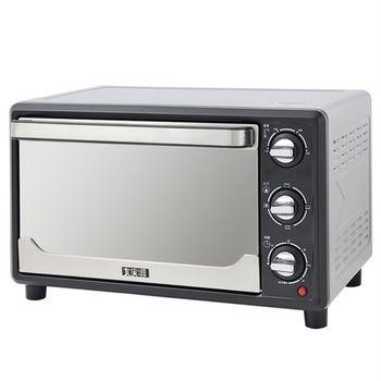 買就送:麵包機【大家源】23L三段火力鏡面電烤箱 TCY-3823