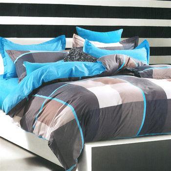 【美夢元素】都市迷情 精梳棉 雙人四件式涼被床包組