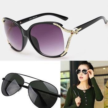 【Dr.Mango】韓系潮款抗UV400情侶款太陽眼鏡兩入優惠組合