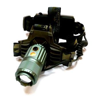 【TrueLight】CREE T6 LED巡弋野戰變焦頭燈(W0099-2AP)