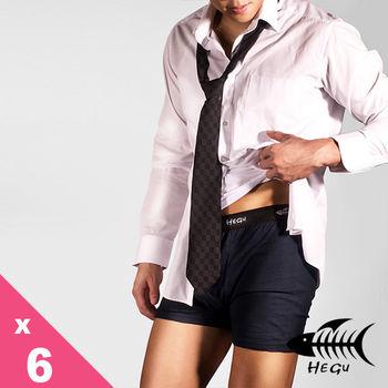 (團購12件組)HEGU型男M-3L素色蠶絲絲光棉平口褲