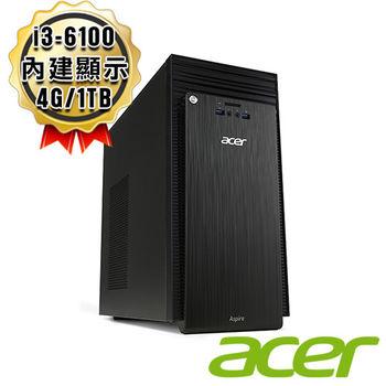 Acer 宏碁 TC-710 i3-6100 雙核 1TB 桌上型電腦