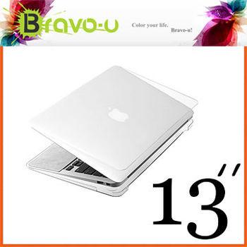 Bravo-u Apple MacBook Air 13吋 水晶光透保護硬殼