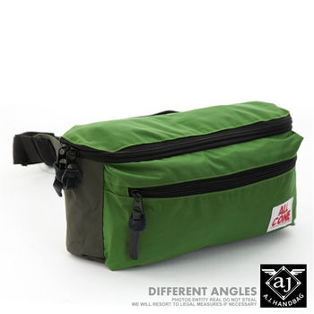 【AJ.亞介】輕量系列 樂活單車包 隨身腰包 單肩包 綠色  (UE8030)