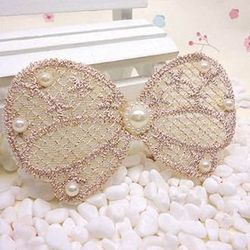 窩自在★鏤空蕾絲/珍珠/鑲鑽魔法瀏海貼片東森購物型錄-珍珠蕾絲12