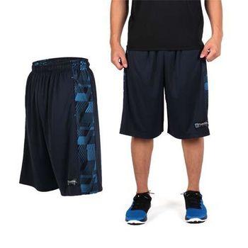 【FIRESTAR】男吸排籃球褲-運動短褲 休閒短褲 丈青淺藍