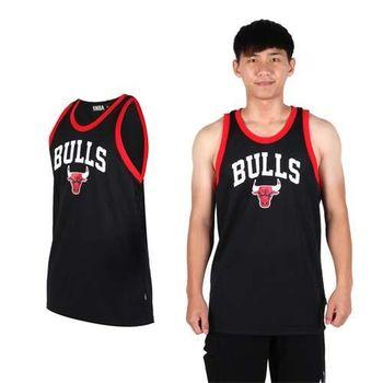 【NBA】BULLS公牛隊-男印花圓領背心 -運動 球衣 籃球服 黑紅白