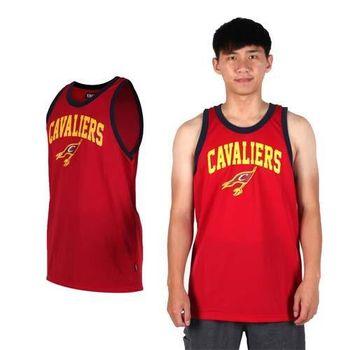 【NBA】CAVALIERS騎士隊-男圓領背心-運動 球衣 籃球服 暗紅黃