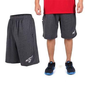 【NBA】CAVALIERS騎士隊-男印花休閒短褲 -籃球褲 運動短褲 深灰白