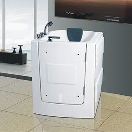 【海夫健康生活館】開門式浴缸 外開 101T水柱按摩款 (95*85*100 公分)