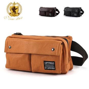 NEW STAR 日系防水質感雙口袋雙層側背包斜背包腰包 BW21