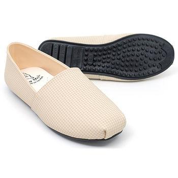 【 cher美鞋】輕便橫紋路平底懶人鞋♥棕色/水藍色/粉色/米色/紅色♥513-154