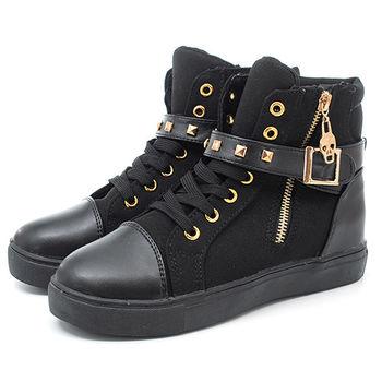 【 cher美鞋】168厚底綁帶休閒鞋♥黑色/白色/藍色♥168-154