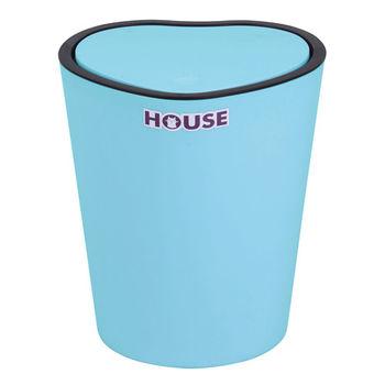 薰衣草心型掀蓋垃圾桶-藍色