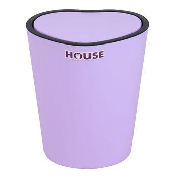 薰衣草心型掀蓋垃圾桶-紫色