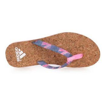 【ADIDAS】女拖鞋 - 人字拖 夾腳拖 游泳 愛迪達 粉紅白