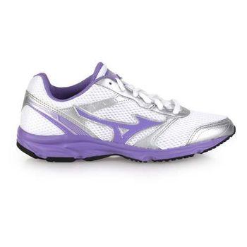 【MIZUNO】MAXIMIZER 18 女慢跑鞋- 美津濃 路跑 訓練 白銀粉紫