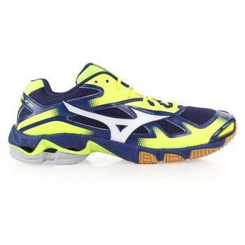 【MIZUNO】WAVE BOLT 5男排球鞋- 美津濃 丈青螢光黃