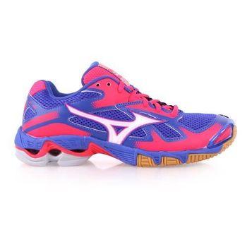 【MIZUNO】WAVE BOLT 5 女排球鞋- 美津濃 藍桃紅