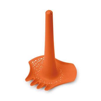 比利時Quut戲水玩沙組-多功能耙沙漏斗(陽光橘)