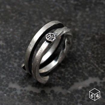 ART64 戒指 稜。角度H 925純銀戒指 小
