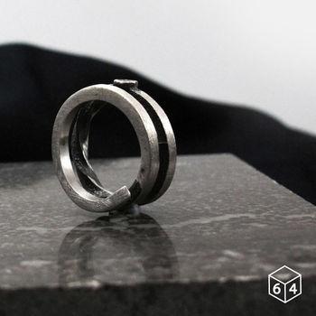 ART64 戒指 稜。角度G 925純銀戒指 大