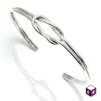 ART64 C型手環 Love Link心繫情緣 平結手環 925純銀手環