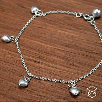 ART64 手鍊  戀慕 925純銀手鍊 愛心造型設計