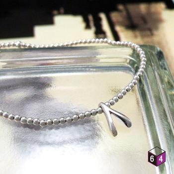 ART64 手鍊 幸運許願骨 925純銀手鍊 彈性繩手環