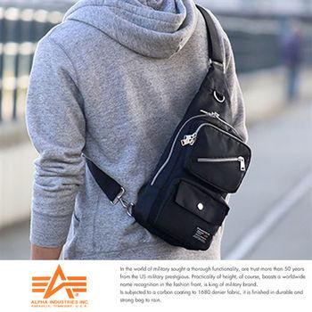【ALPHA】日本品牌 斜背包 降落傘布 腳踏車包 A5 單肩後背包 IPad mini尺寸5個口袋12689059
