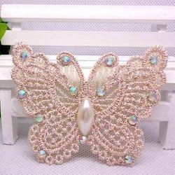 窩自在★鏤空蕾絲/珍珠/鑲東森購物主持人鑽魔法瀏海貼片-貼鑽蕾絲32