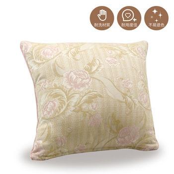 【巴芙洛】粉色玫瑰抱枕50X50cm