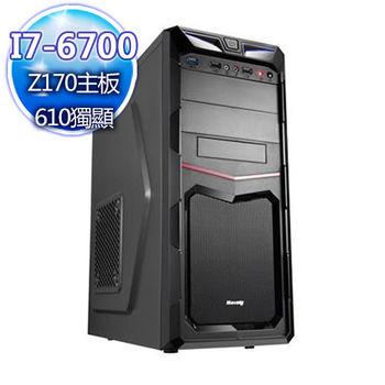 |華碩平台|力量寶石 Intel i7-6700四核 GT610獨顯桌上型電腦