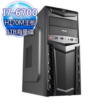 |華碩平台|星際大盜 Intel i7-6700四核 1TB大容量桌上型電腦