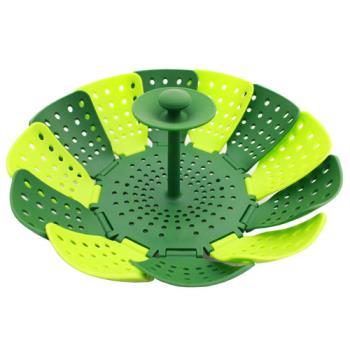 PUSH!餐具穿山甲折疊蒸籠蒸盤高腳蒸架易清洗衛生無菌食品級矽膠