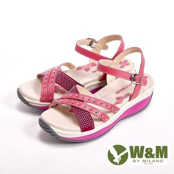 W&M 馬卡龍色雕花涼鞋 女鞋-桃(另有紫)